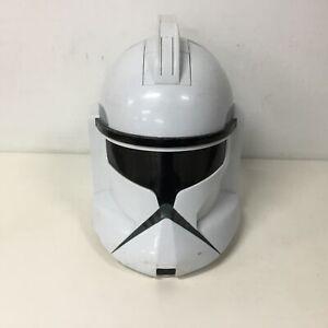 Hasbro Star Wars Clone Wars Clone Trooper Helmet Talking Battery Operated #550