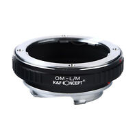 K&F Concept Lens Mount Adapter for Olympus OM Mount Lens to Leica M-P M240 M10