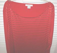 Liz Claiborne ¾  Sleeves Plus SIze 3X Red Sequined Top  NEW Woman's Ladies NEW