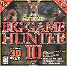 Video Game PC Cabelas Big Game Hunter III 3 Three 2 Discs NEW SEALED
