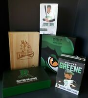Dayton Dragons Baseball Lot Ticket Boxes & Hunter Greene, Jose Siri Bobbleheads