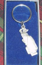 Golf Bag Pewter Key Ring Key Chain Usa made