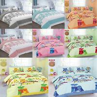 Cute Owls Bedding Duvet Quilt Cover Set Pillowcase Single Double King Super king