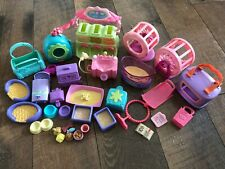 Hasbro Littlest Pet Shop Lps Lot Assorted Hamster Wheel Dog Bed Tub Equipment