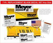 MEYER LOT PRO 7 pc.set KIT Snow Plow Decal NEW Front Blade Replacement MLPK-7