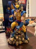 """Wolverine On Skulls by Rick Force, Diamond Select 8"""" Statue, 2005, #1229 of 2500"""