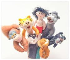 Livre de la Jungles  - marionnettes a doigts.