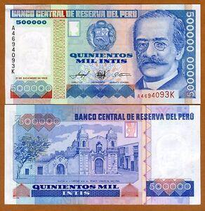 Peru, 500000 (500,000) Intis, 1989, P-147, UNC