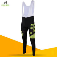 Men's Cycling Long Sleeve Bibs Pants Bicycle Bib Tights Trousers Bike Sportswear