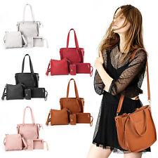 4pcs Women Ladies Leather Handbag Shoulder Tote Purses Satchel Messenger Bag Set