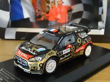 IXO DIREKT CITROEN DS3 WRC 2013 RALLY FRANCE LOEB CAR MODEL LR18 1:43