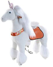 Official PonyCycle Small Unicorn White Non Electric Ride On Toy Horse