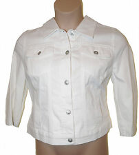 BNWT size 18 Per Una  WESTERN Style ladies JACKET in WHITE with STRETCH