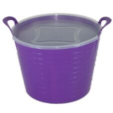 42L PURPLE FLEXI TUB COMPLETE WITH LID, STORAGE BUCKET TRUG, FLEXIBLE, CONTAINER
