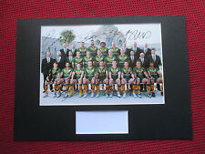 KANGAROOS - AUSTRALIA RUGBY LEAGUE 16 SIGNED A3 MOUNTED TEAM PHOTO DISPLAY:PROOF