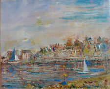 Jean-Paul ULYSSE (1925-2011) HsT Bord de mer Jeune Peinture Grand Prix de Rome