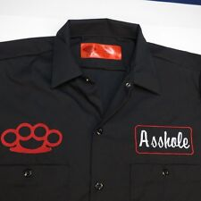 NEW NWT DICKIES A$$HOLE BRASS KNUCKLES MMA FIGHTER GARAGE MECHANIC WORK SHIRT