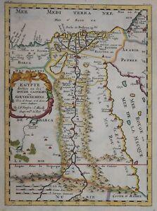 EGYPT DIVISEE.... BY NICHOLAS SANSON, PARIS 1657
