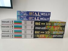 Lot de  10 VHS maxell E120-180 -EX240- TDK TV 240 Neuf
