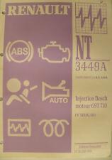 Manuel d'atelier Renault NT 3449 A Injection Bosch moteur G9T 710