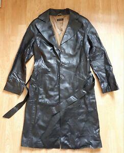 Massimo Dutti leather coat size 34