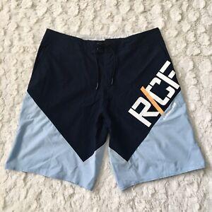 Men's Reebok Training Crossfit Shorts Sz 34 Athletic Workout Multi Sports Blue..