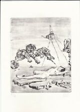 SALVADOR DALI original old Etching Lithograph Signed