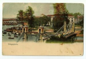 Singapore ' Cavenagh Bridge ' Postcard, lovely postcard, please see scans for th