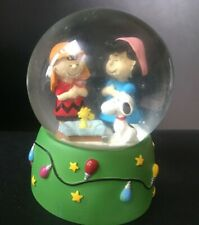 NIB Department 56 Peanuts Snow Globe Water Ball The Christmas Play HTF