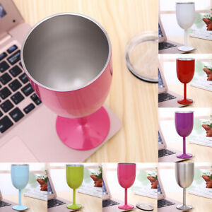 Metal Wine Tumbler Stainless Steel Wine Glass Red Wine Champagne Goblets