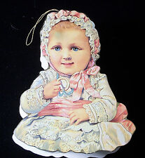 Vintage1983 Creepy Box w/Baby Doll Ornament By Shackman Nos Weird Last One Left!