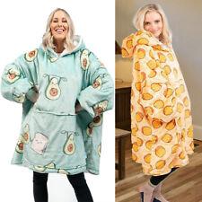 Hoodie Wearable Blanket Sweatshirt Oversized Hooded Fleece Warm Pajamas 2021 NEW