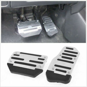 2 Pcs Automatic Nonslip Brake Clutch Pedal Cover Set Foot For Car Safe Driving