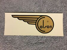 VINTAGE COLSON BICYCLE WATER TRANSFER DECAL