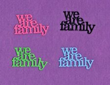WE ARE FAMILY die cuts scrapbook cards