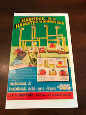1975 VINTAGE 6X10 COMIC TOY PRINT AD LIVING WORLD HABITRAIL A HAMSTER WONDERLAND
