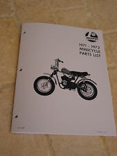 1971 - 1972 RUPP MINICYCLE MINIBIKE PARTS LIST MANUAL