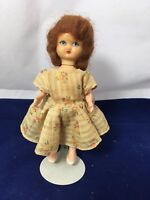 """Vintage Hollywood Doll Girl with Mohair 5.5"""" 1950's"""