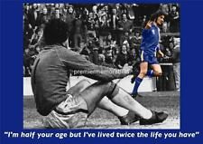 CARDIFF CITY FC LEGEND ROBIN FRIDAY GIVING THE V-SIGN 1977 QUOTE EXCLUSIVE PRINT