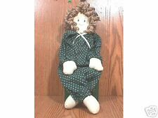 Handpainted Handcrafted Wood and Fabric Doll