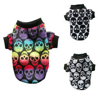 EP_ Small Pet Dog Cat Puppy Warm Sweater T Shirt Vest Costume Skull Clothes Exot