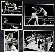 Boxing 5 Rare German Cards 1936 Berlin Olympics Kaiser Wilson Tritz Castro Runge