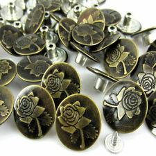 Boutons pression pour jeans vieux bronzé fleur motif en métal 20 sets 20 X 8 mm