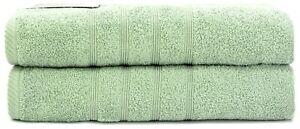 """RingSpun Cotton Luxury Bath Towels 550 GSM 2pcs Set Size 30""""x52"""""""