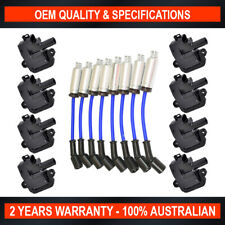 8x Ignition Coil w/ NGK Lead Kit for Holden Commodore VT VX VY WH WL WK 5.7L LS1