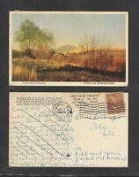 1947 STEPTOE BUTTE STATE PARK STATE OF WASHINGTON POSTCARD