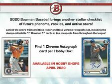 2020 Bowman Baseball Factory Sealed Hobby Box IN HAND READY TO SHIP
