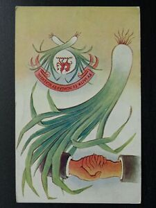 Wales HANDS LEAK & DRAGON - FY IAITH FY NGWLAD FY NGHENEDL Old Greeting Postcard