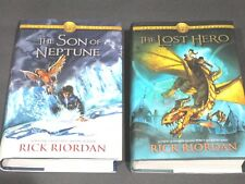 Lot of 2 Rick Riordan HC/DJ Son of Neptune 2011 Lost Hero 2010 First Editions