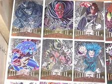 1995 MARVEL METAL SILVER FLASHERS PARALLEL CARD SINGLES POWER GRID UPDATED 8/30